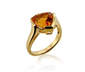 Citrine Ring<br> 3.4 Carat Total Weight
