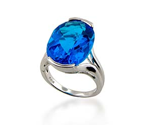 Blue Topaz Ring<br> 11.4 Carat Total Weight