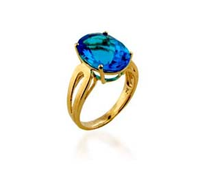 Blue Topaz Ring<br> 5.2 Carat Total Weight