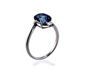 Neptune Blue Topaz Ring<br> 1.9 Carat Total Weight