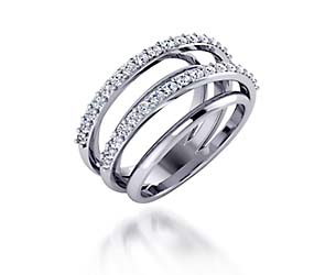 Double Row Design Collection Diamond Ring