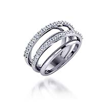 Double Row Design Collection Diamond Ring 3/8 Carat Total Weight