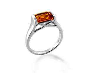 Citrine Ring<br> 1.3 Carat Total Weight