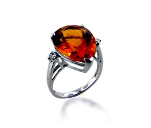 Citrine Ring<br> 7.5 Carat Total Weight