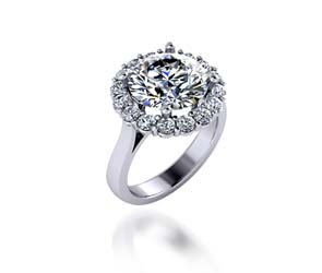 Ladies Halo Design Engagenment Ring