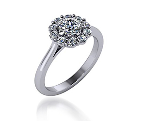 Round Halo Diamond Fashion Ring