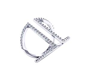 Curved Diamond Fashion Ring