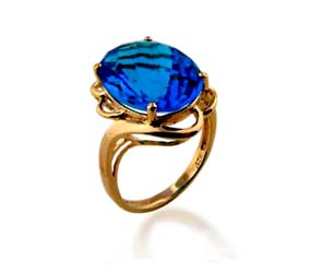 Blue Topaz Ring<br> 8.5 Carat Total Weight