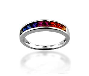 Multi-colored Sapphire Ring