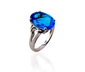 Blue Topaz Ring<br> 5.5 Carat Total Weight