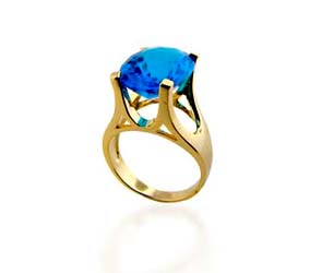 Blue Topaz Ring<br> 8.3 Carat Total Weight