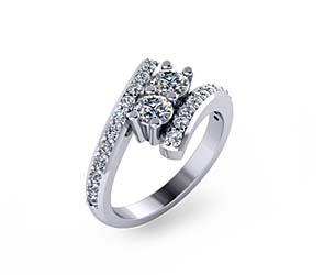 Journey Two Stone Diamond Ring