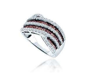Champagne Diamond Fashion Ring<br> 1.52 Carat Total Weight