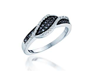 Black Diamond Ladies Band<br> 1/4 Carat Total Weight