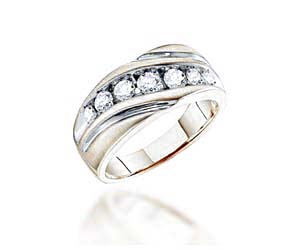 Mens Diamond Fashion Band<br> 1.0 Carat Total Weight