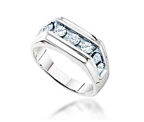 Mens Diamond Fashion Band <br> 1.0 Carat Total Weight
