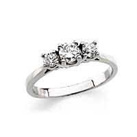 3 Stone Anniversary Band 5/8 Carat Total Weight