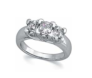 Three Stone Bridal Diamond Ring