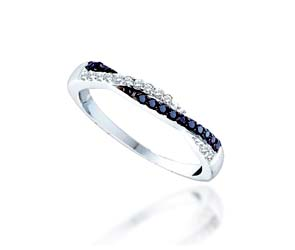 Black Diamond Fashion Band<br> 1/4 Carat Total Weight