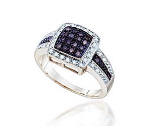 Ladies Champagne Fashion Ring<br> 1/2 Carat Total Weight