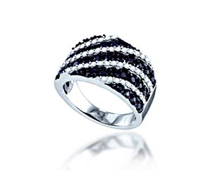 Ladies Black Diamond Fasion Band<br> 1.23 Carat Total Weight