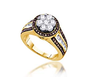 Ladies Champagne Diamond Fashion Ring<br> 1.39 Carat Total Weight