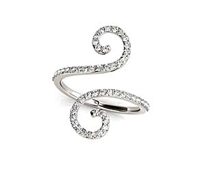 Squiggle Diamond Band