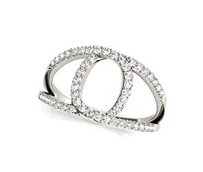 Eye Shaped Diamond Ring