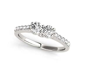2 Stone Diamond Ring