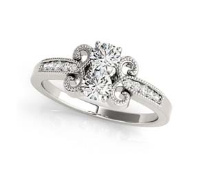 2 Stone Bow Ring