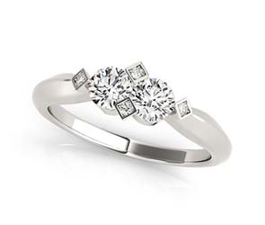 Artistic 2 Stone Diamond Ring
