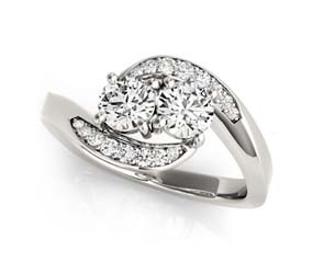 2 Stone Graduating Diamond Ring