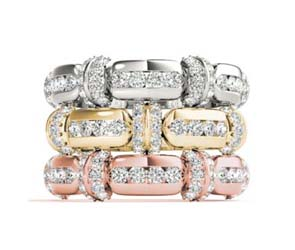 Stackable Channel Sets Diamond Ring