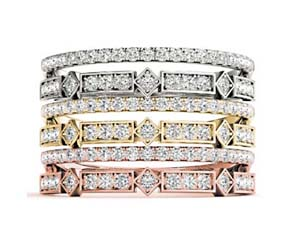 Double Row Stackable Diamond Ring