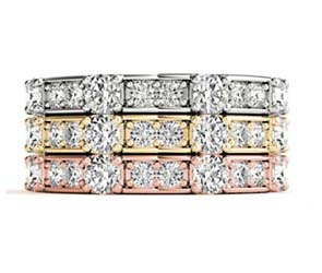 Diamond Cluster Stackable Ring
