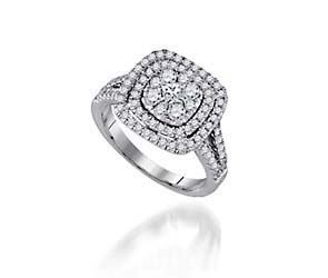 Double Halo Style Diamond Ring