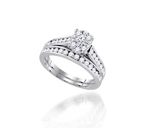Monaco Diamond Collection Bridal Set Ring