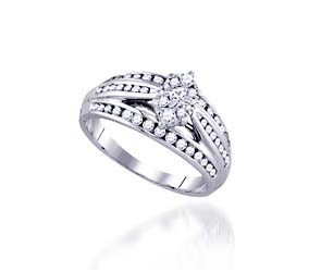 Marquee Illusion Diamond Bridal Ring