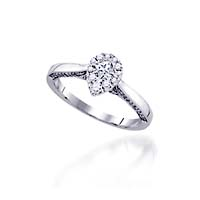 Diamond Pear Shape Cluster Engagement Ring 1/2 Carat Total Weight