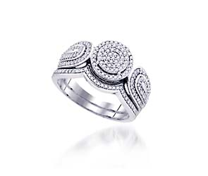 Micro Pave Diamond Vintage Ring