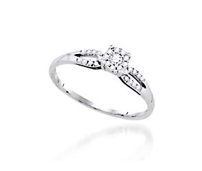 Mini Halo Style Fashion Ring