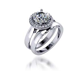 Ladies Diamond Halo Ring