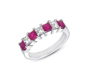 Genuine Ruby and Diamond Ring