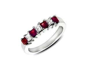 Genuine Ruby and Diamond Band