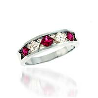 Ruby & Diamond Ring 1.1 Carat Total Weight