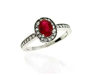 Ruby & Diamond Ring 1.25 Carat Total Weight