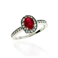 Ruby & Diamond Ring 1.25 Carat Total Weight