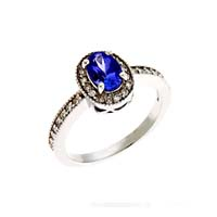 Tanzanite & Diamond Ring 1.19 Carat Total Weight