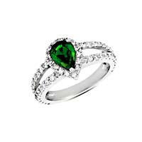 Emerald & Diamond Ring 1.93 Carat Total Weight