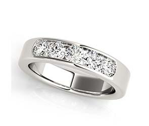 5 Stone Channel Set Diamond Ring